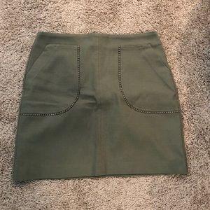 Loft green skirt